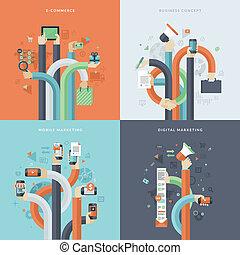 concepten, marketing, zakelijk