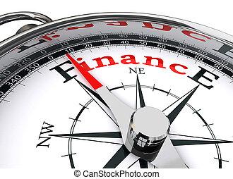 conceptueel, financiën, kompas