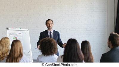 conferentie, opleiding, groep, zakenlui, succesvolle , het luisteren, zakenman, presentatie, zaal, cursus