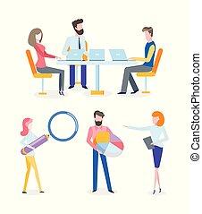conferentie, vakmensen, managers, cursus