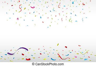 confetti, kleurrijke, viering