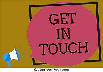 constant, bubble., communicatie, frame, meldingsbord, luidspreker, toespraak, foto, conceptueel, megafoon, touch., bruine , krijgen, het tonen, verblijf, bonding, achtergrond, gegil, wisselwerking, contact, tekst, luid