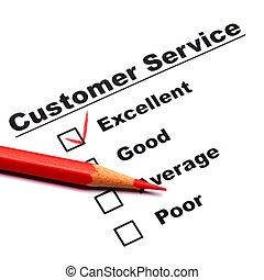 consument, onderzoeken; inspecteren;