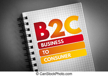 consument, -, zakelijk, acroniem, b2c
