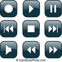 controle, knopen, audio-video