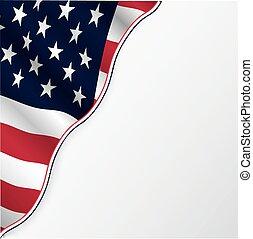 copyspace., vlag, usa