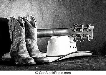 cowboy, scène, westelijk