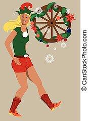 cowgirl, kerstmis