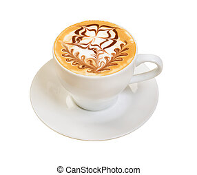 cup., koffie, cappuccino