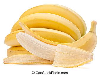 cutout, achtergrond, vrijstaand, bos, bananen, witte