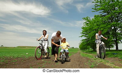cycling, gezin
