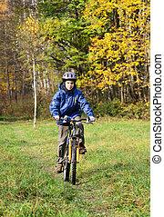 cycling, park, geitje