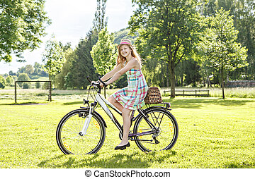 cycling, park