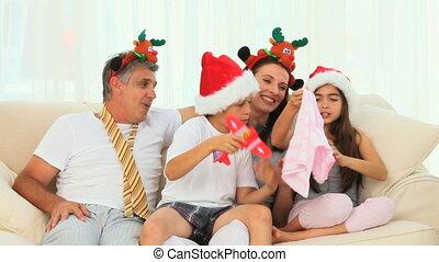 dag, kerstmis, gezin