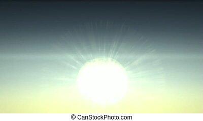 dageraad, hemels, zonlicht, zonopkomst