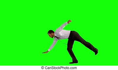 dancing, breken, zakenman