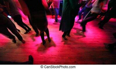 dancing, velen, mannen, nightclub, benen, vrouwen