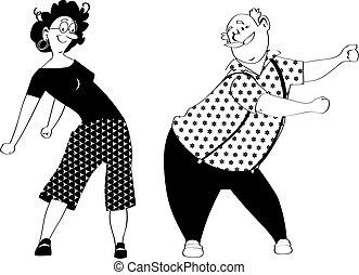 dans, floss, paar