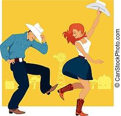 dans, land, westelijk