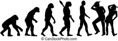 dans, lijn, evolutie