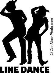dans, lijn, woord, paar