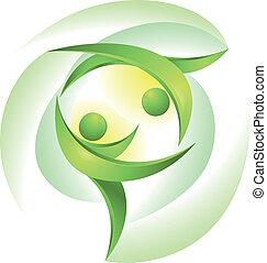 dansers, groene, eco-icon