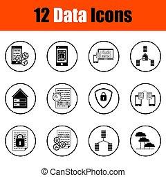 data, iconen, set
