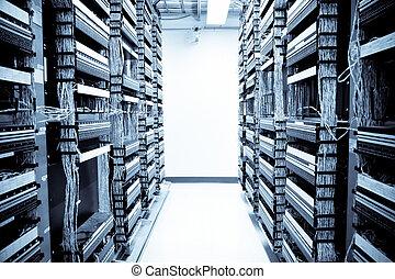data, netwerk, centrum