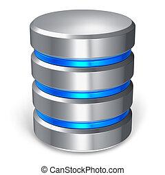 databank, schijf, hard, pictogram