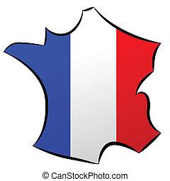 de, carte, frankrijk