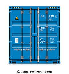 de container van de lading, vracht, expeditie