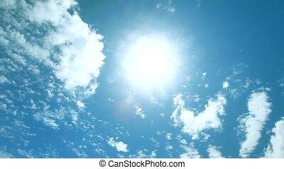 de tijdspanne van de tijd, zonnig, hemel, mooi