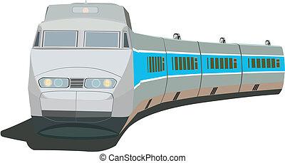 de trein van de passagier, vasten