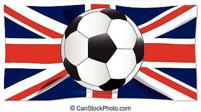 de voetbal van de vlag, brits