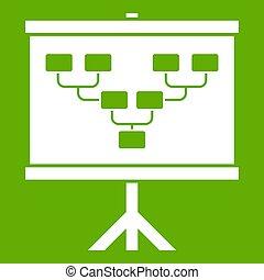 de voetbal van het voetbal, akker, groene, plan, of, pictogram