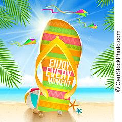 de zomervakantie, illustratie