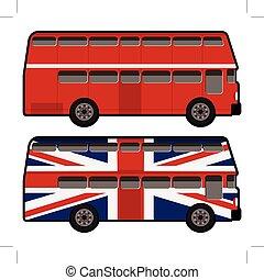 decker, dubbel, bus