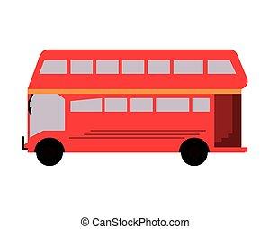 decker, dubbel, bus, pictogram