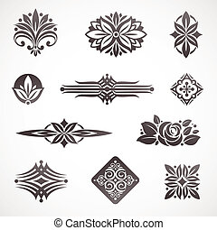 decor, communie, &, pagina, vector, ontwerp, boek