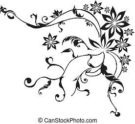 decoratief, bloemen