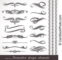 decoratief, decor, communie, &, vector, ontwerp, pagina