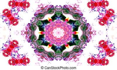 decoratief, decoratief, concept, ster, model, abstract, glad, symmetrisch, verfborstel, inkt, gedaantes, geometrisch, kaleidoscope, cirkel, beweging