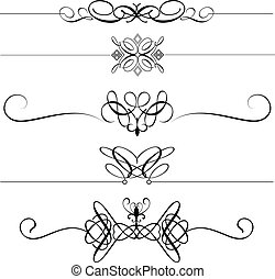 decoratief, dividers, pagina