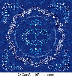 decoratief, floral, frame, communie, ontwerp