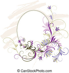 decoratief, floral, frame, ornament