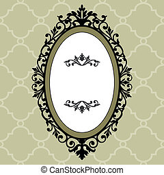 decoratief, ovaalvormige omlijsting, ouderwetse