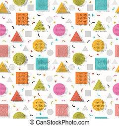decoratief, schattig, communie, model, shapes., seamless, ontwerp, achtergrond, geometrisch