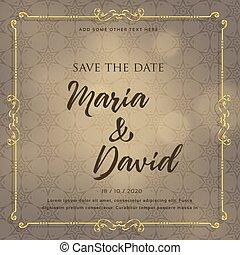 decorative elements, trouwfeest, ontwerp, uitnodigingskaart