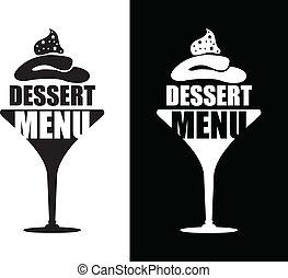 dessert, achtergrond, menu