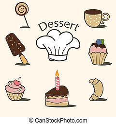 dessert, iconen